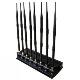 8 Bands Indoor Cell Phone Signal Jammer , Wireless Mobile Signal Blocker 18W RF Power
